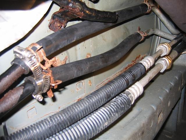2005 CHRYSLER T /& C DODGE CARAVAN REAR UNDERBODY HEATER HOSE REPAIR PACKAGE
