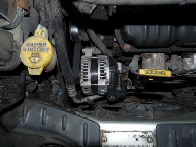 Is it the decoupler or the alternator bearings?   The